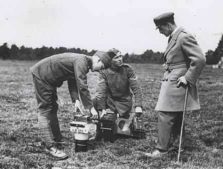WW1 Camera inspection in the field
