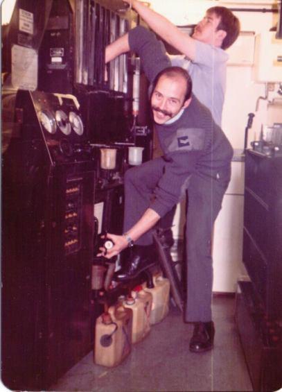 Cpl Nick Collins & SAC Kev Dennigan, Process 2, RIC, RAF Laarbruch. ('79 – '82)