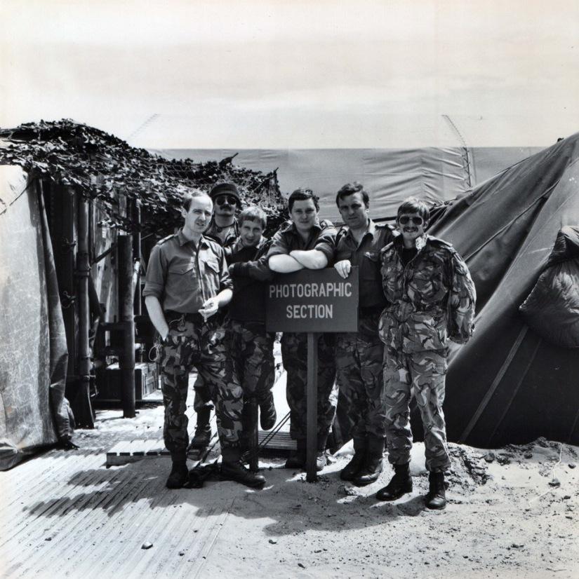 Dec 1982 Photo section RAF Port Stanley Falklands