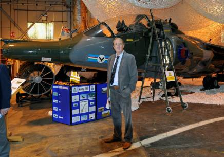 dl2 Don Lambert visiting the heritage musem at RAF Wittering