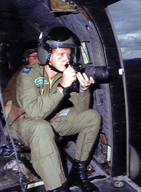 Post war Belize Cpl Gareth Davies Puma aircraft