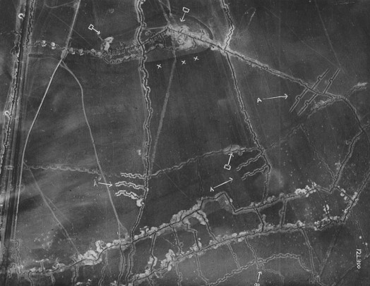 WW1 aerial photo (trenches)