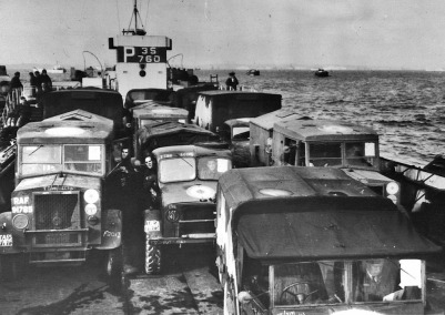 WW2 Normandy 7 MFPS on landing craft post D-Day 1944