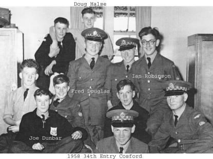 34th Entry 1958 RAF Cosford