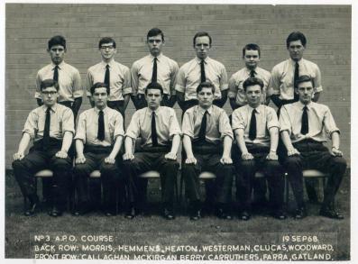 APO 3 Course Cosford 1968