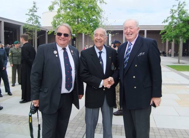 A great pleasure to meet some RAFPA members at the National Memorial Arboretum for RAFPhotographers's dedication service. I am with Chairman John Barry and David Beeton