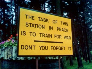 Gp Capt 'Whiskey' Walker was station master, the sign he had put near the main gate.