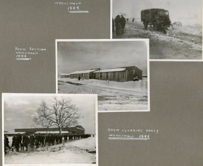 Snow clearing and photo section Wymeswold 1944