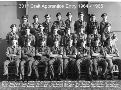 First 301 Craft Apprentice Entry photographers from 1964