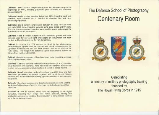 Centenery room DSOP Leaflet Guide Front