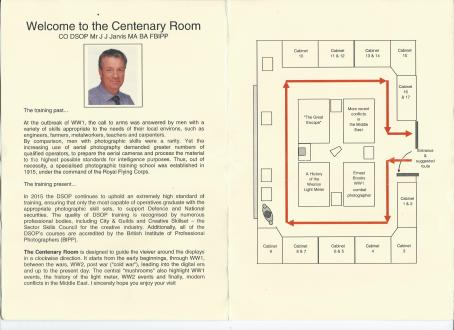 Centenery room DSOP Leaflet Guide Inside