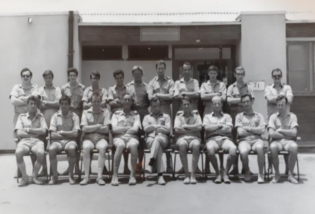 Not 100% sure if I've spelt the names right but - Back row, 1st from left: Alex Humphrey; 8th from left, Pete Symcock; 9th from left, Dave Stevens; 10th from left, Bill Breeton. Front row, 8th from left, Graham Drudge-Coates.
