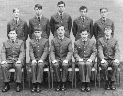 Back row, L to R Tony Nicholson, Ian ???, Brian Govier, Phil Davies, John Green. Front row, L to R Kevin Dennigan, John Turner, Senior Man ???, Neil Pargeter, Martin Grey.