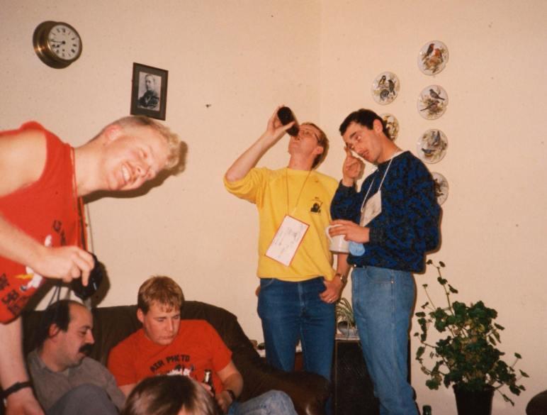 Bald Eagle bash at Nick Collins AMQ RAF Lasrbruch 1986/7 4