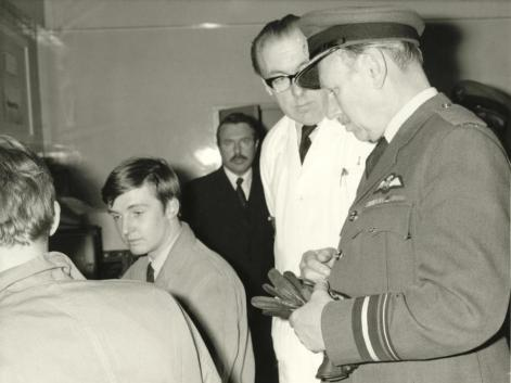 ACF 21 Top Brass Inspection While Robin Roe & Dave Austin Look On JSOP RAF Cosford 1974