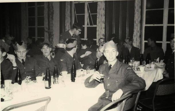 Pete Mears APO5 Christmas Dinner Cavaliar Mess RAF Cosford 1968