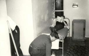 Stu Carruthers & Alf Clucas APO3 Bull Night Trenchard Block RAF Cosford Dec 1968