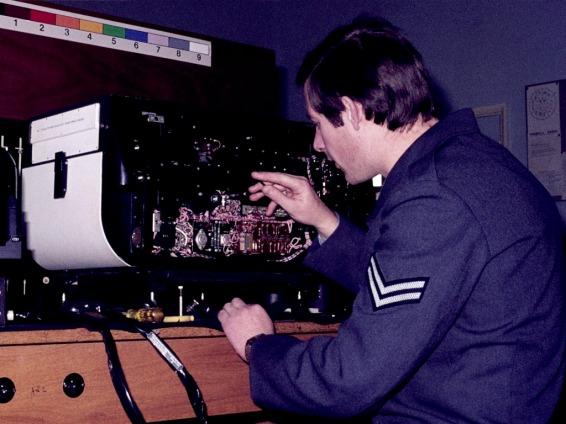 Syd Baxter Fettles An F126 Camera RAF Cosford 1977