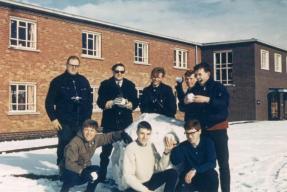 Tony DuVall, Colin Ayres, Roger Whittaker, Russ Kells, Dick Braithwaite, John Clarke, Pete Mears, Joe Mc..., APOs 5&6 Trenchard Block Feb 1969