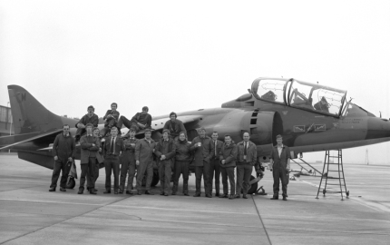 ACF Jim Martin (3rd Right) 4 Sqn RAF Wildenrath 1972