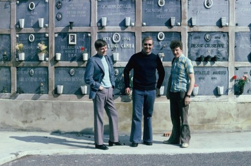 ACF Pete Mears, APO Mick Fletcher, ACF Harry Knowles Cagliari Sardinia 1975