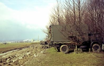 ACFs Jim Gannon & Bob Kendall 4 Sqn Deployed Site 1973