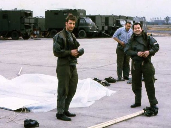 APO Ron Graham (Left) 4 Sqn RAF Wildenrath 1970