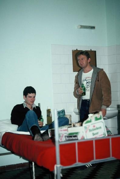 APO Steve Hall (Left) & ACF Mick Dobbins, Decimomannu, Sardinia 1981
